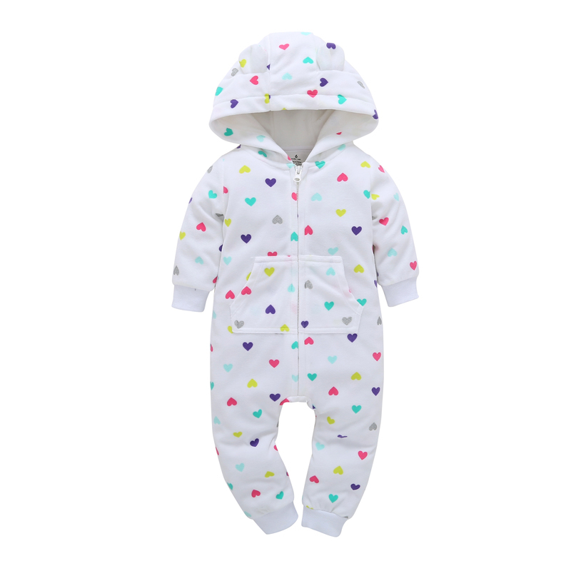 Newborn Cotton Cute white with loving heart Baby Rompers Long Sleeve Soft Colorful Toddler Baby Boy Girl Clothes Kids Jumpsuit