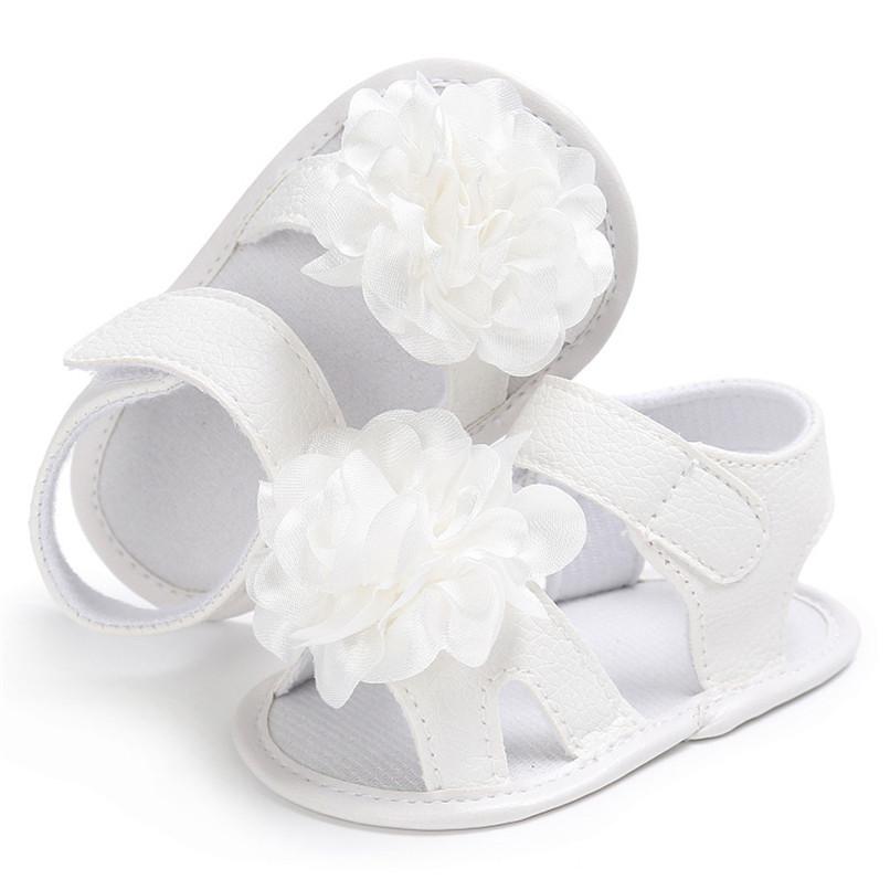 Summer Girls Sandals Toddler Newborn Baby Girl Crib Shoes Flower Soft Sole Anti-slip Sandals NDA84L24 (10)
