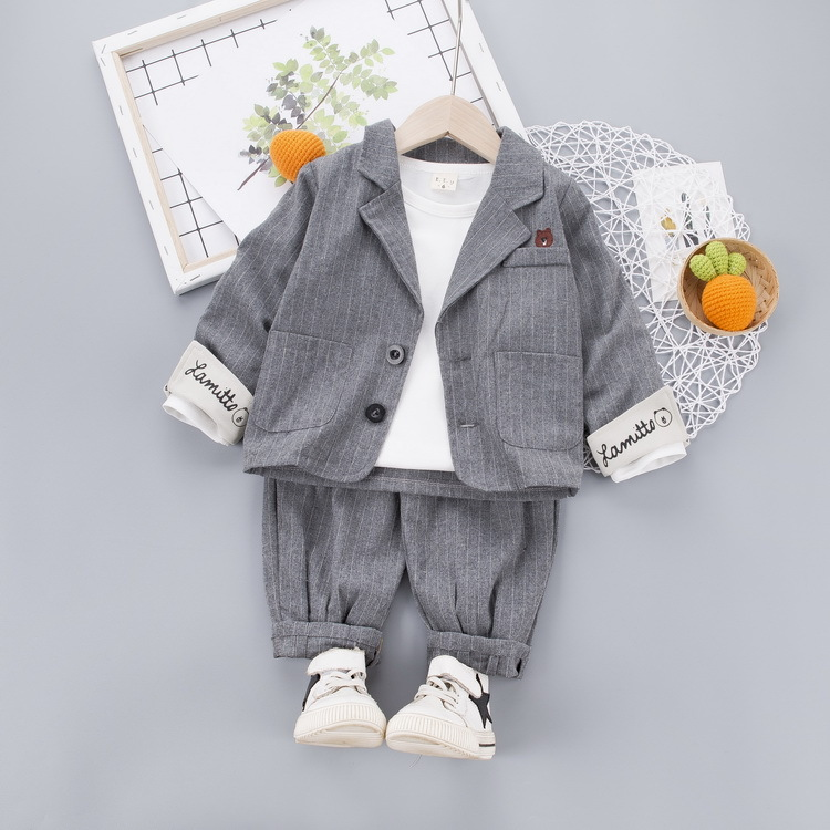 Baby Boy White Blue Smart Suit Outfit Baptism Christening Wedding Party 0-18M