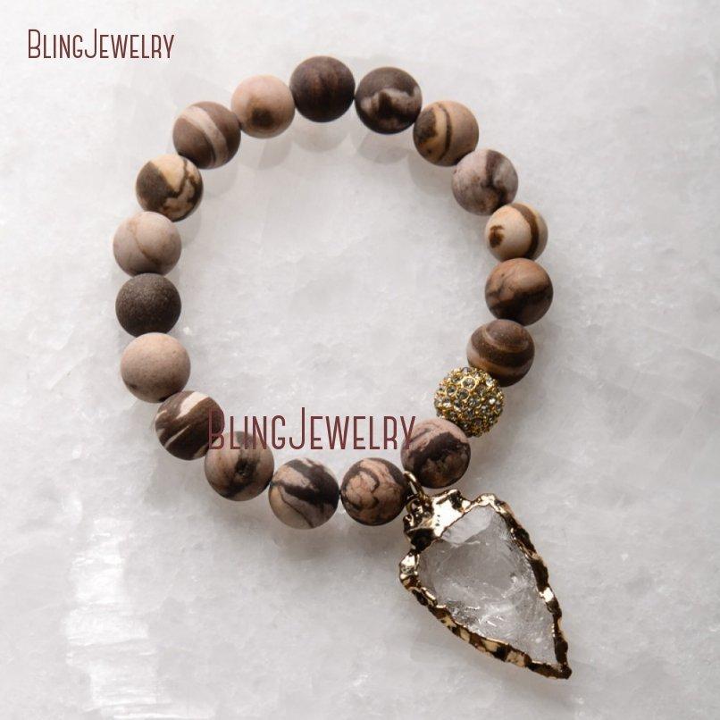 20181201-BM17426-Latest Arrowhead Clear Crystal Bracelet On Sale_30