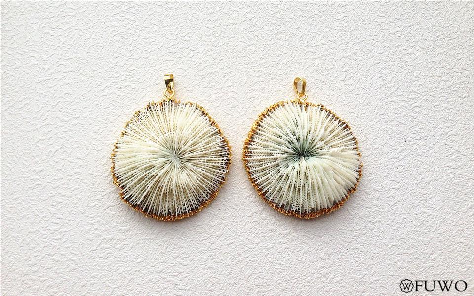 White Coral Pendant 7