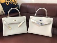 25cm 28cm 32cm Brand Totes Leather Designer K Bag Milk White...