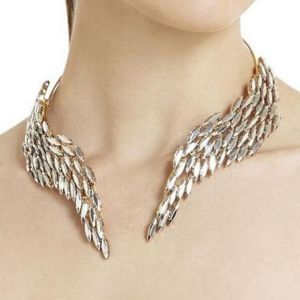Women Crystal Chain Collar Choker Bib Statement Charm Necklace Pendant Jewelry