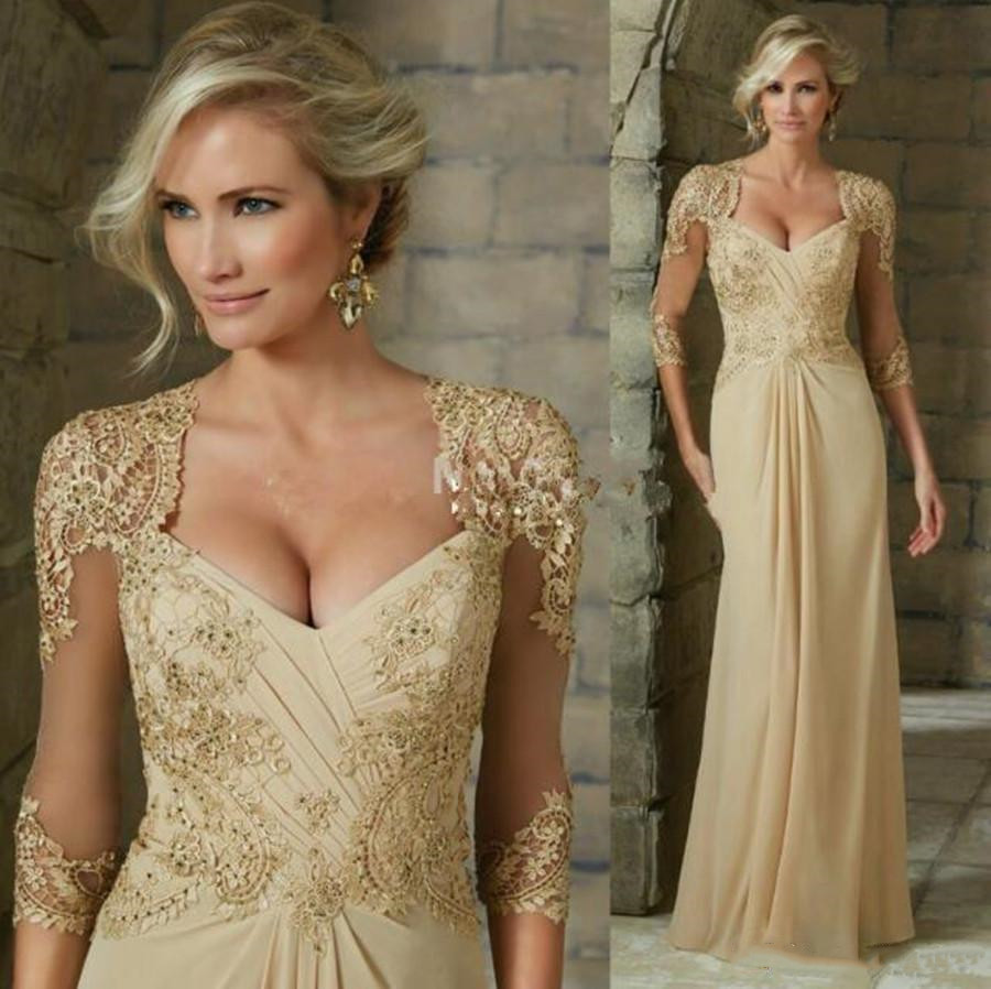 2020 Elegant Chiffon Mother of the Bride Dresses Lace Appliques Beaded Formal Evening Gowns Plus Size Summer Wedding Guest Dress