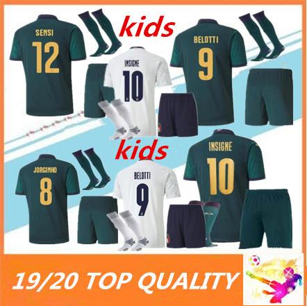 KIDS 2019 2020 ITALY European Cup soccer Jersey 19 20 JORGINHO EL SHAARAWY BONUCCI INSIGNE Italy kids maillot de FOOTBALL shirts
