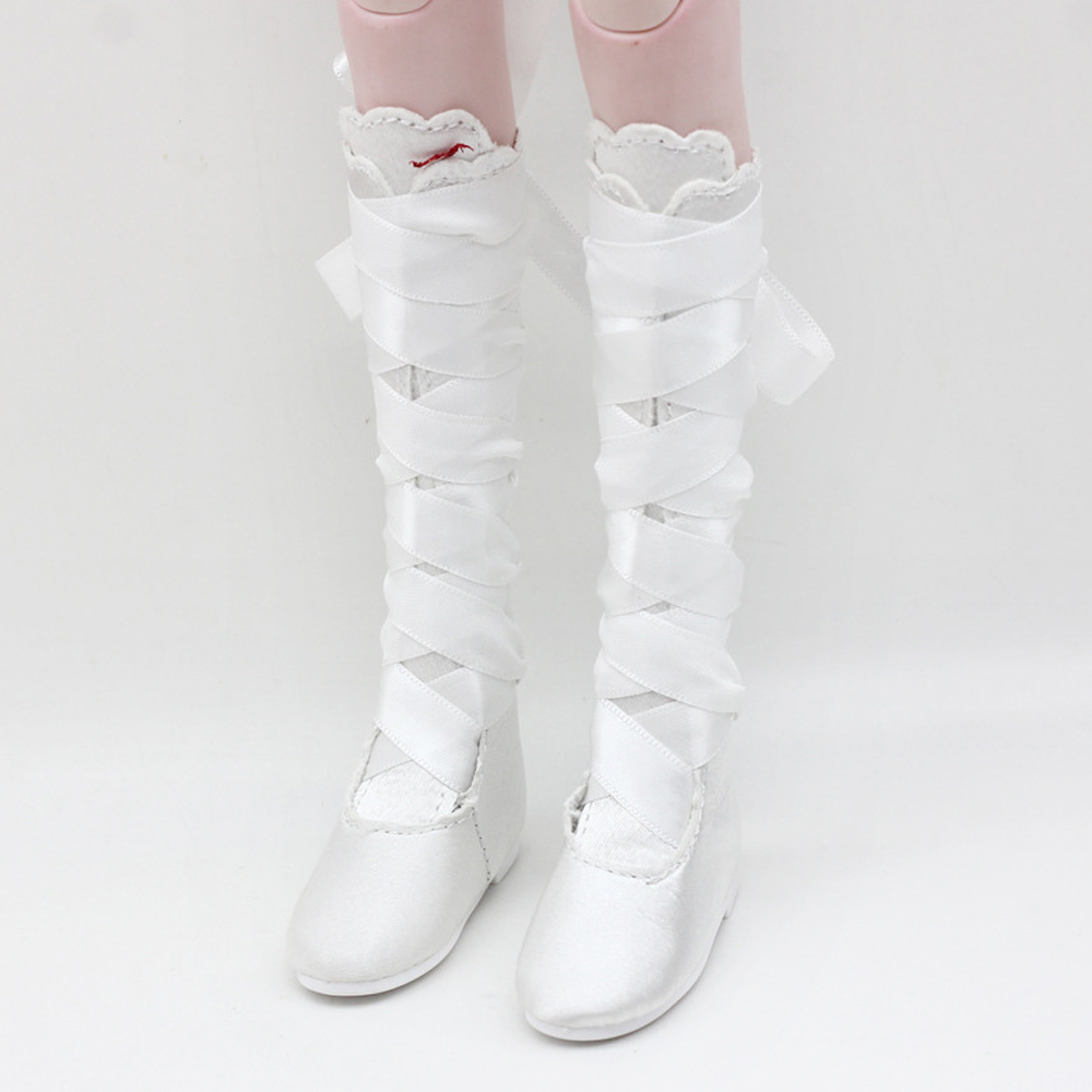 1/3 BJD Dolls Shoes - Suede Jackboot Lace up Flat Boots Princess Boots - for Night Lolita Dolls Winter Dress-up Accessory