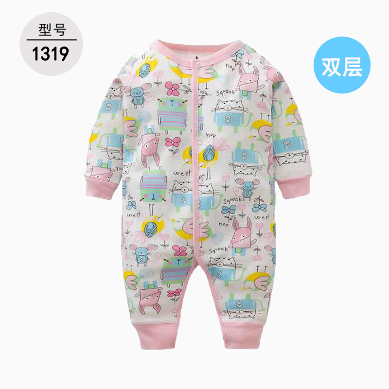 new born baby clothes 2019 fall winter boys girls long sleeve cartoon romper newborn costume toddler shark jumpsuit onesie 3-24M