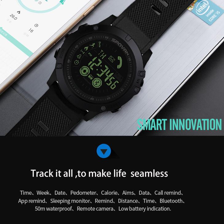Genvivia Heart Rate Monitor Pedometer Fitness Tracker Men Smartwatch Connected Smart Watch Men #w35 MX190716