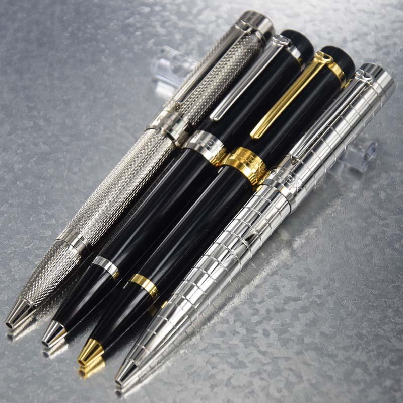 Ballpoint Pen Schwarz Tinte Klassisch Design Golden Silber Clip Luxus für Büro