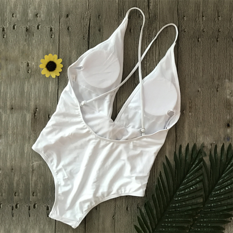 Sexy-Bowknot-Tie-One-piece-Swimsuit-White-Deep-V-Thong-Swimwear-Women-Trikini-2018-Bathing-Suit (1)