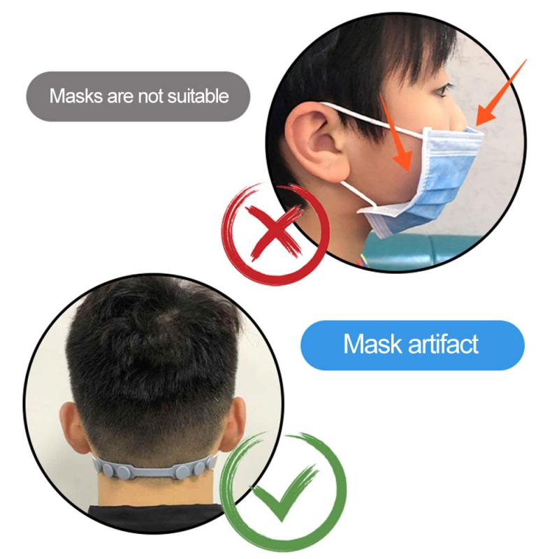 Adjustable Anti-Slip Mask Ear Grips Extension Hooks Third Gear Mask Hanging Buckle Rails for Relieving Ear Pain