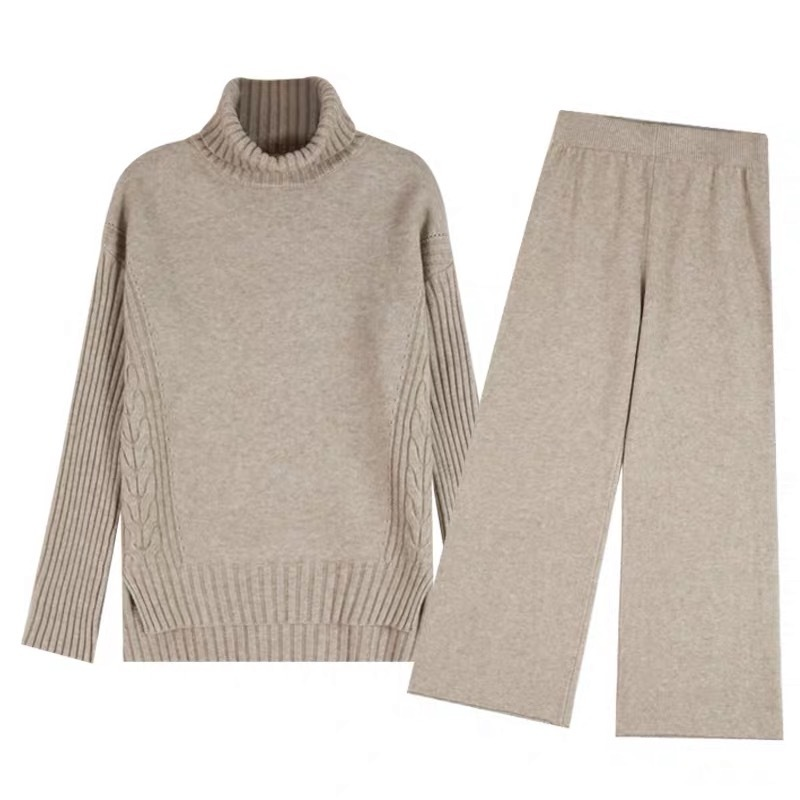 Sweater-Set-Women-Winter-Knitted-Suits-2-Piece-Set-Soild-Turtleneck-Sweater-Loose-Trousers-Office-Lady(4)