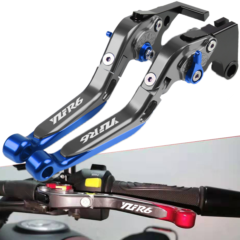 FXCNC Racing CNC Aluminum Short Adjustable Brake Clutch Levers for YAMAHA YZF R6 05-16 R6S EUROPE VERSION 06-07 YZF R1 04-08