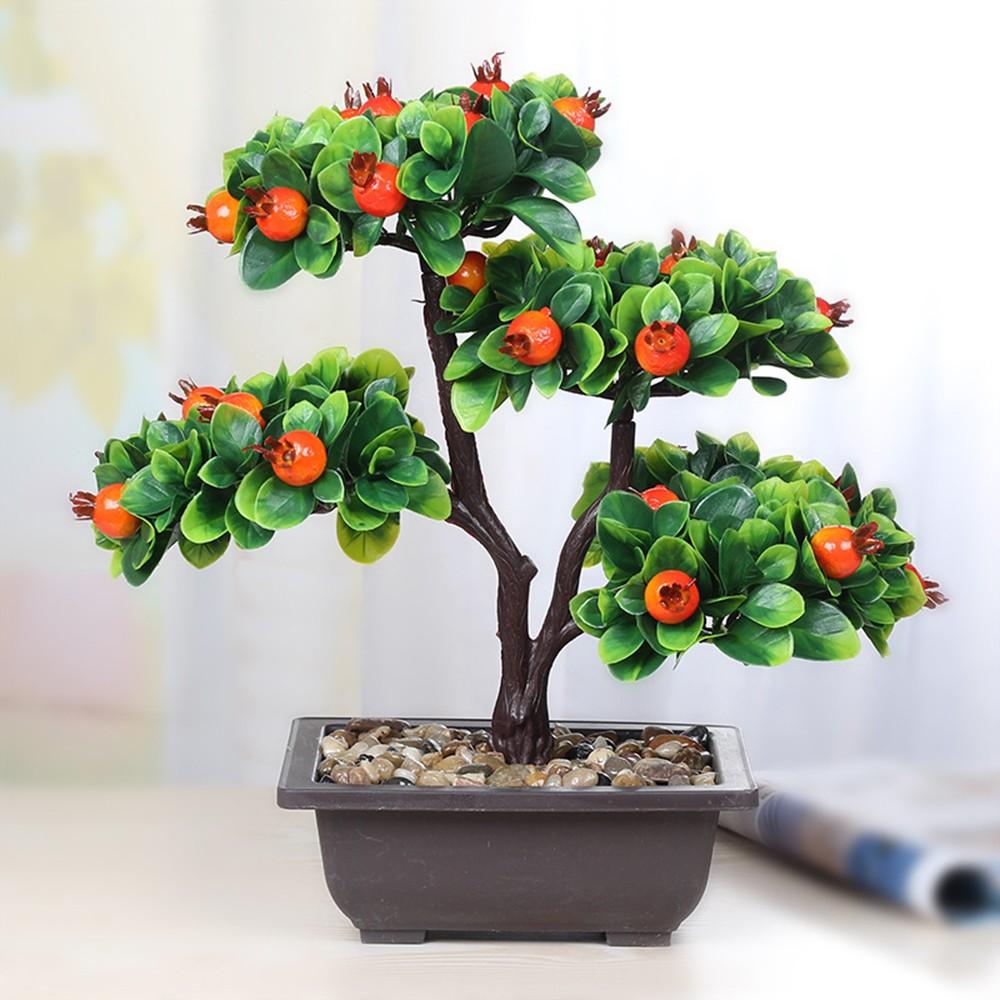 Arbre Fruitier En Pot Interieur plante artificielle orange tree fruit bonsai pot simulation décoration  décoration d'intérieur artisanat bureau tv décor artificiel ornements