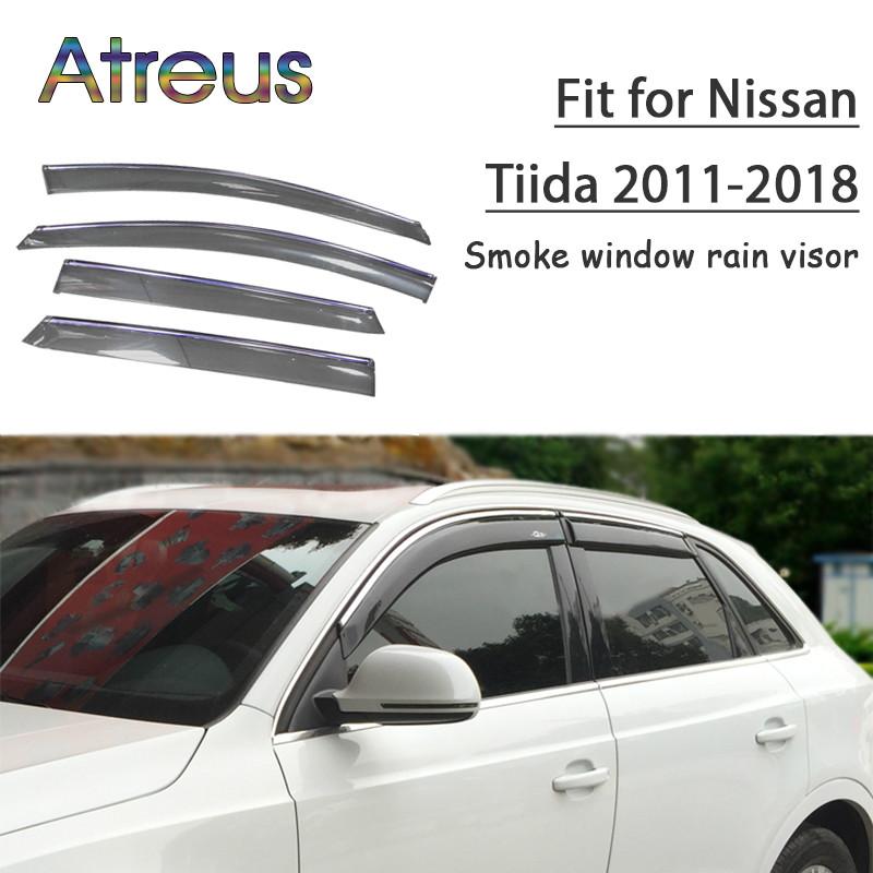 Neuf Nissan Juke Wind /& Rain /& fumée Déflecteurs 2013-2019 4 Piece Set