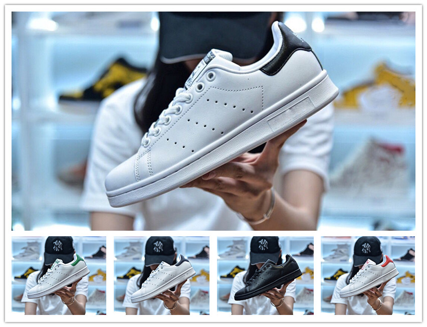 Vente en gros Mode New original Stan Smith Chaussures pas cher Femmes Hommes Chaussures Casual Skateboard Superstar cuir Punching Filles Blanches