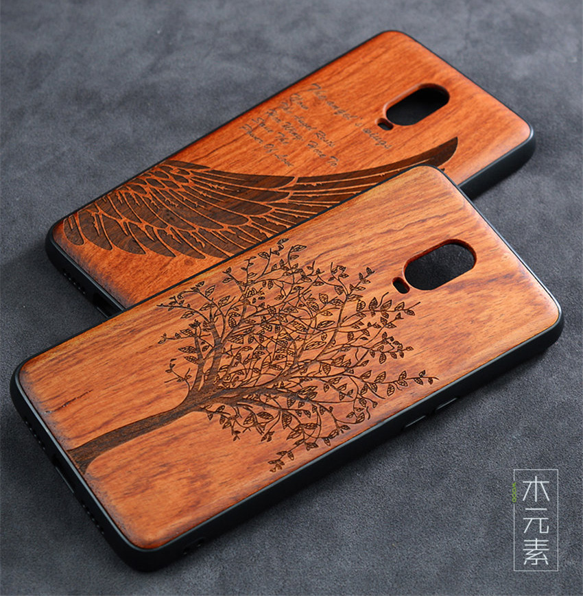 Oneplus 6t Case Boogic Original Real Wood funda Oneplus 6T Rosewood TPU Shockproof Back Cover Phone Shell One plus 6T case (2)