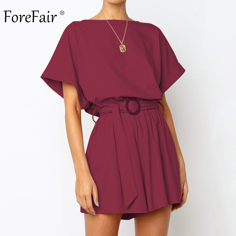 Forefair Linen Shorts Jumpsuit Summer Wide Leg (2)