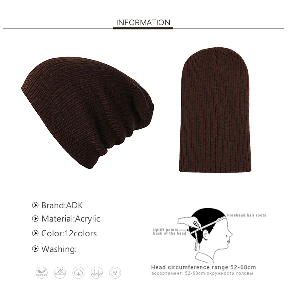 3Autumn Winter Cap Men Women Solid Color 2018 New Casual Brand High Quality Fashion Beanies For Girls