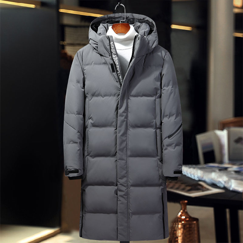 Winter Duck Down Jacket X-longer Coat's Men's Fashion High Quality Clothing Casual Jackets White Thickening Parkas
