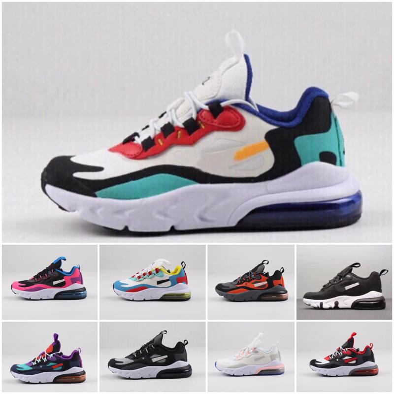 Nike air max 270 Baratas del Athletic Trainer 27 Los hombres del aire del arco iris Nueva zapatillas de deporte hombre niños Walking Deportes Negro