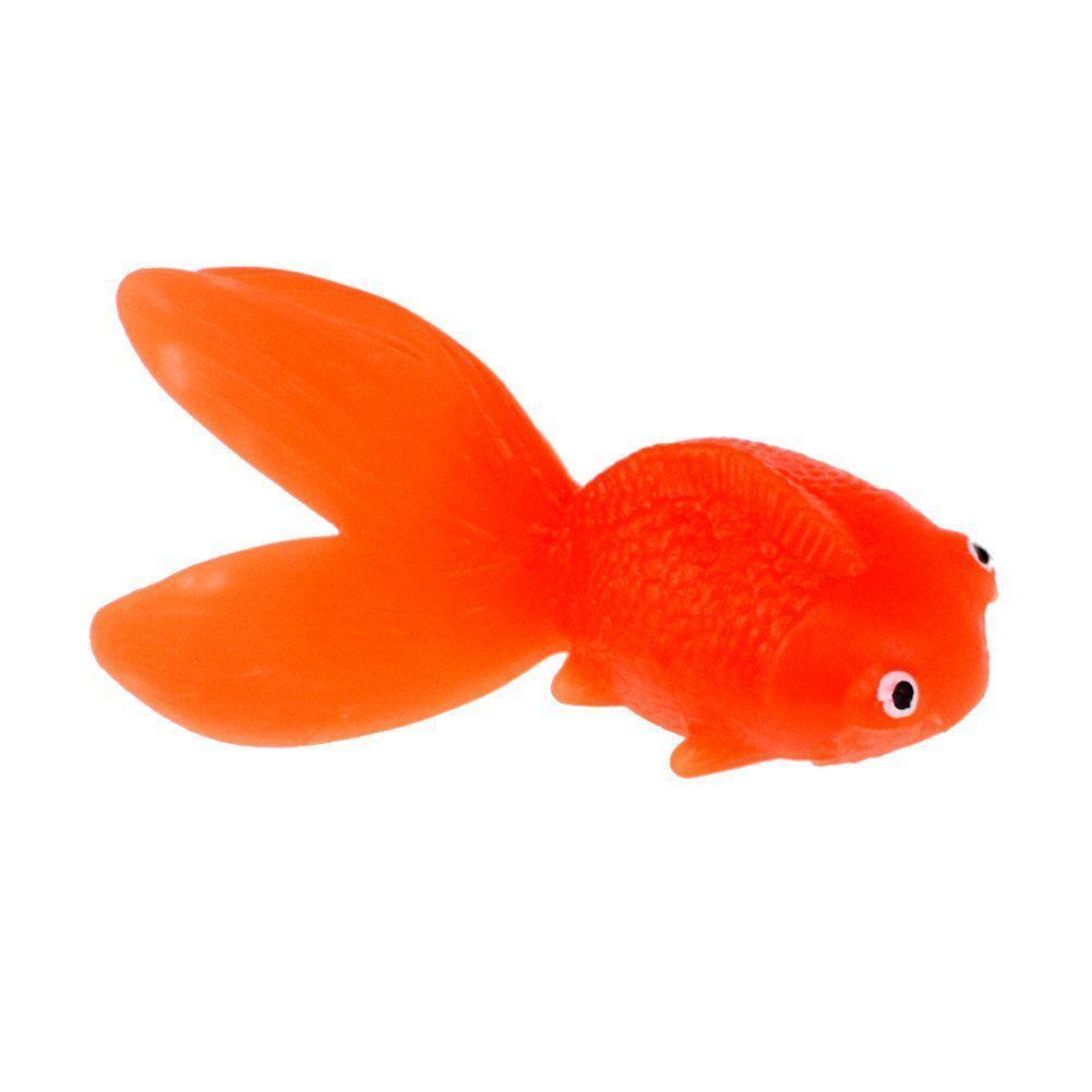 Venta al por mayor de fábrica 50 piezas de goma suave Goldfish Kids Bath Game Toy tpr Simulación Modelo de pez pequeño juguetes Bebé agua Juguetes regalo