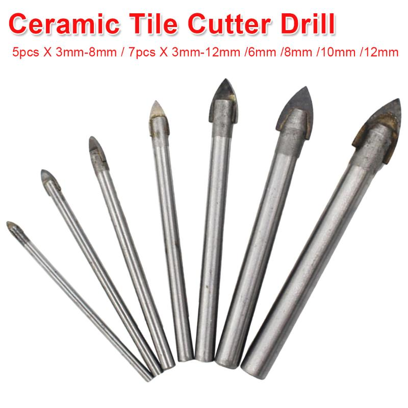 10X 3mm Tungsten Carbide Drill Bits For Spear Head Porcelain Ceramic Glass