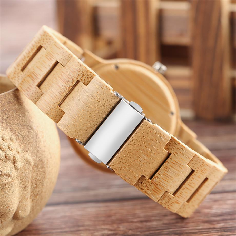 Bamboo zebra wood watch roman numerals dial ladies watch10