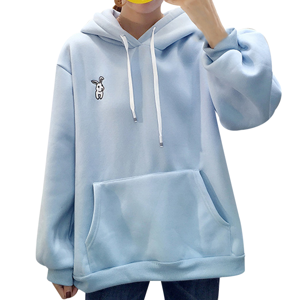 2020 Pullover Tops Women Cute Cartoon Bugs Bunny Ear Sweatshirts Loose Casual Female Hoody Sudaderas Mujer Autumn Winter Hoodies Bd3 From Chongyangclothes002 17 22 Dhgate Com