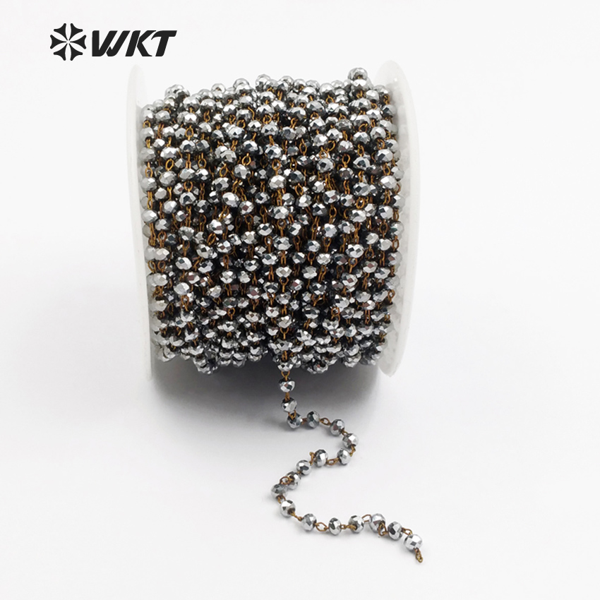 Wholesale 0.4//0.6mm Silver Plated Copper Wire Beads Jewelry Making DIY Craft