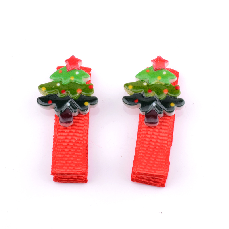 /pack Cartoon Bb Hair Clips Christmas Hairpins Girls Acrylic Hair Clips Children Hair Accessories For Holiday Gift Xmas Gift