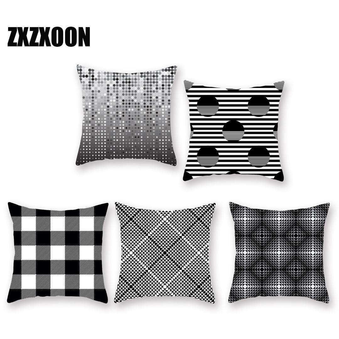 Cuscini Bianchi E Neri fodere per cuscino geometriche semplici fodera per cuscino wove in  geometria bianca e nera per federe decorative