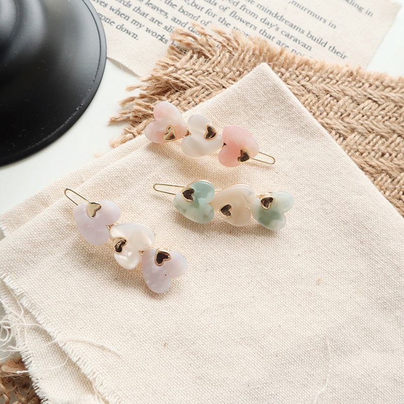 Cute Acetic Acid Love Heart Round Hairpins Metal Macaron Color Hair Clips Hair Accessories Hair Styling Tools dropship
