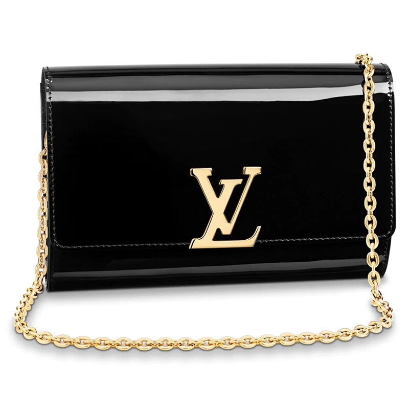 / handbag LOUIEE large lacquered calf leather chain shoulder slung handbag M51633