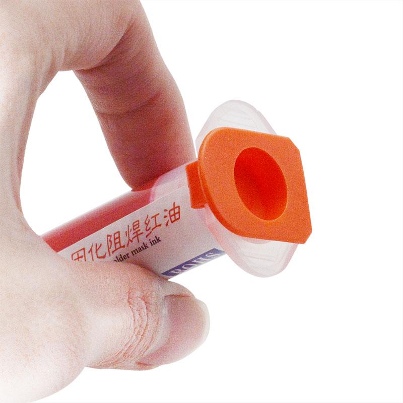 Kırmızı UV Curable Lehim Maskesi PCB için 10CC BGA Devre Lehim Pastası Akı Krem Kaynak Akı Yağı Korumak