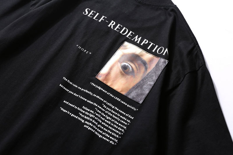Self Redemption Patchwork Printed T-Shirt 5