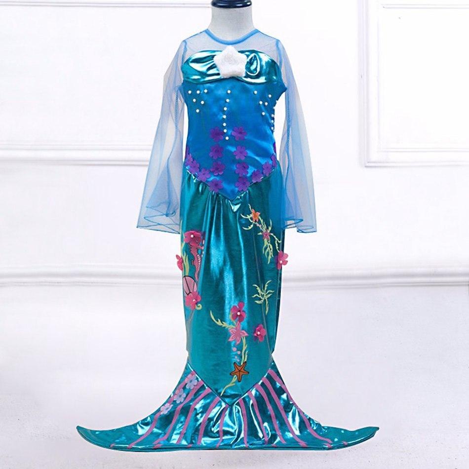 Girls Little Mermaid Summer Princess Dress (1)