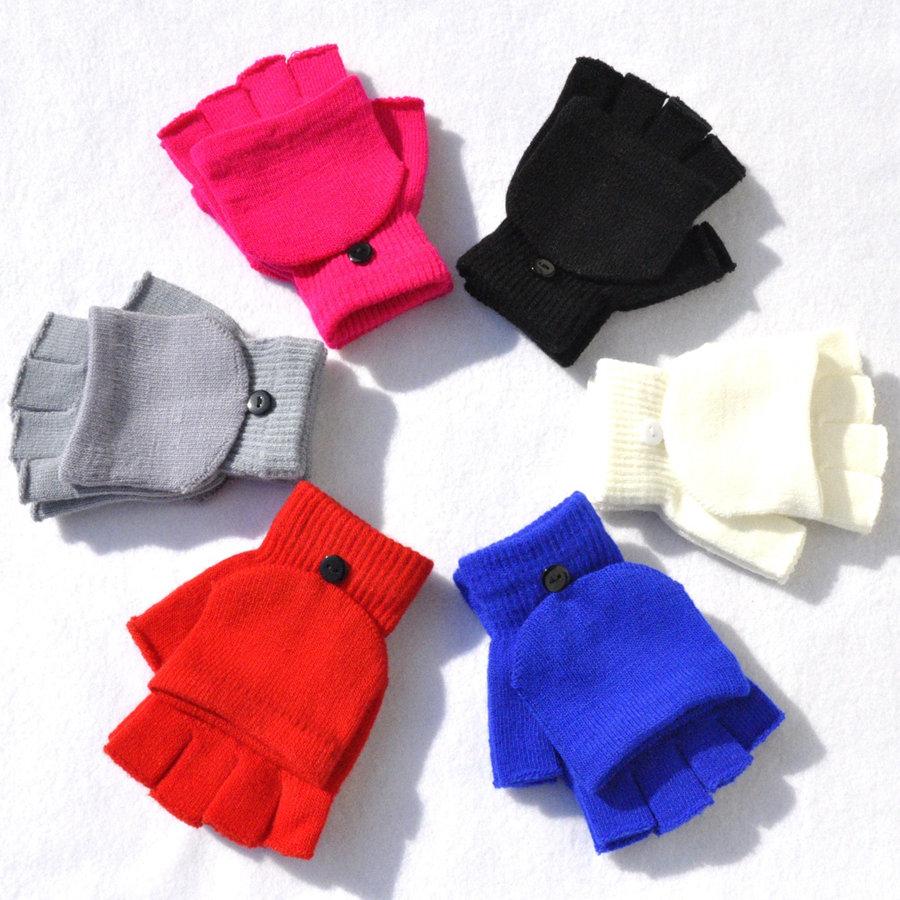 Les Femmes Fille écran Tactile Knit Mitten Hiver Chaud Wapitis Gants Bien Noël
