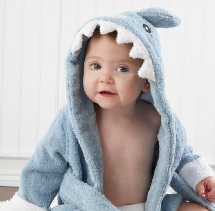 0-6y Children Animal Boys Girls Cotton Sleepwear Bathrobe Romper Kids Home Wear Baby Hooded Bath Towel Robes Cartoon Q190530