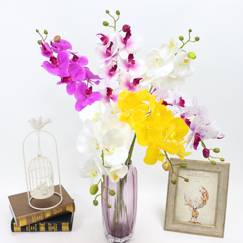 Artificial Orchid Flower 4 color Real Touch Artificial Butterfly Orchid flores artificial Wedding decoration home Festival Decor (1)
