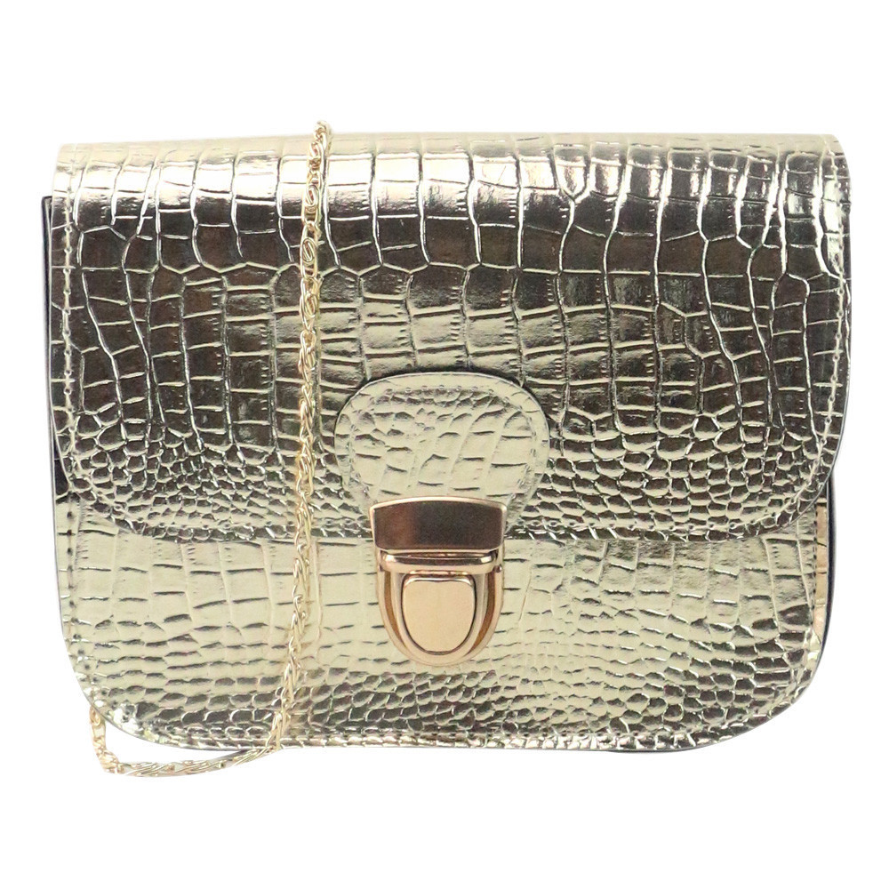 Cheap Women Fashion Crocodile Pattern Alligator Cover Single Handbag Shoulder Bag Small Tote Ladies Purse Hot Sale#YL