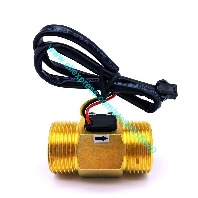 "Full Copper G1"" DN25 Size 4 to 45L/min Speed Pulse Water Flow Sensor Hall Inductive Switch Flow Meter from Factory Good Quality"