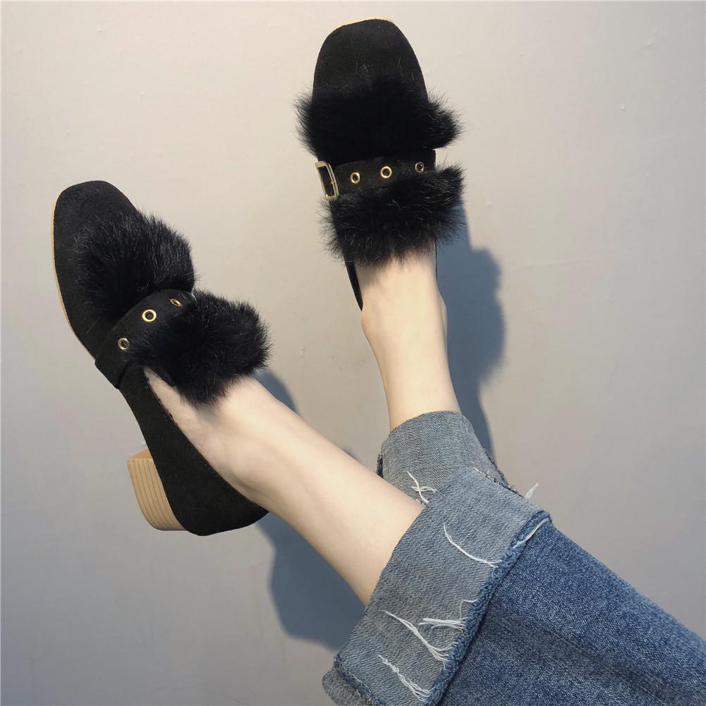 Designer Dress Shoes DORATASIA 2019 New Solid Belt Buckle Square Med Heels Square Toe Woman Casual women's Autumn Winter Pumps Big Size
