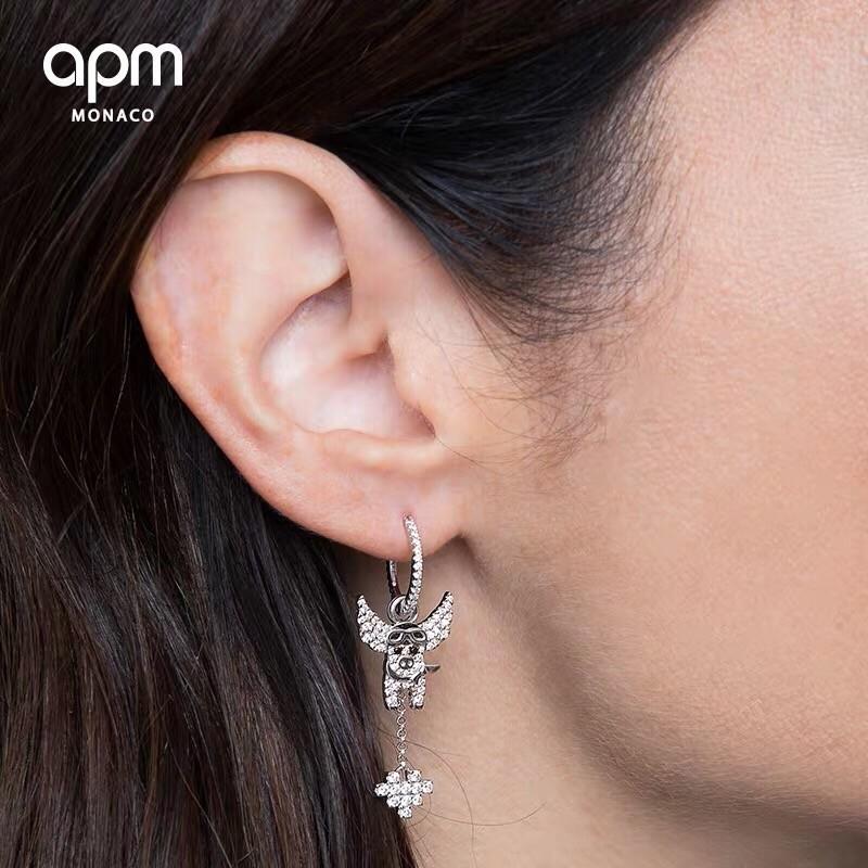 Damenschmuck 2019 Frühjahr neue Sterlingsilber Ohrstecker Micro-Set feine Version des asymmetrischen Ohrringsor