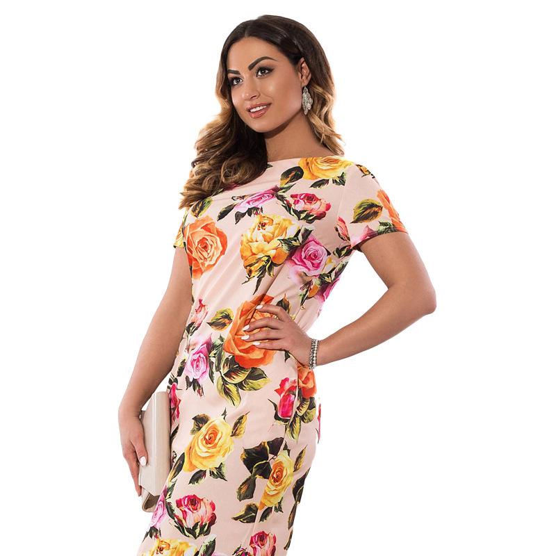 039be4ae2 Compre 2019 Otoño Vestido De Tallas Grandes, Europa, Moda Mujer, Impresión,  Tallas Grandes, Lápiz, Vestido Midi, Ropa De Tallas Grandes, 6xl ...