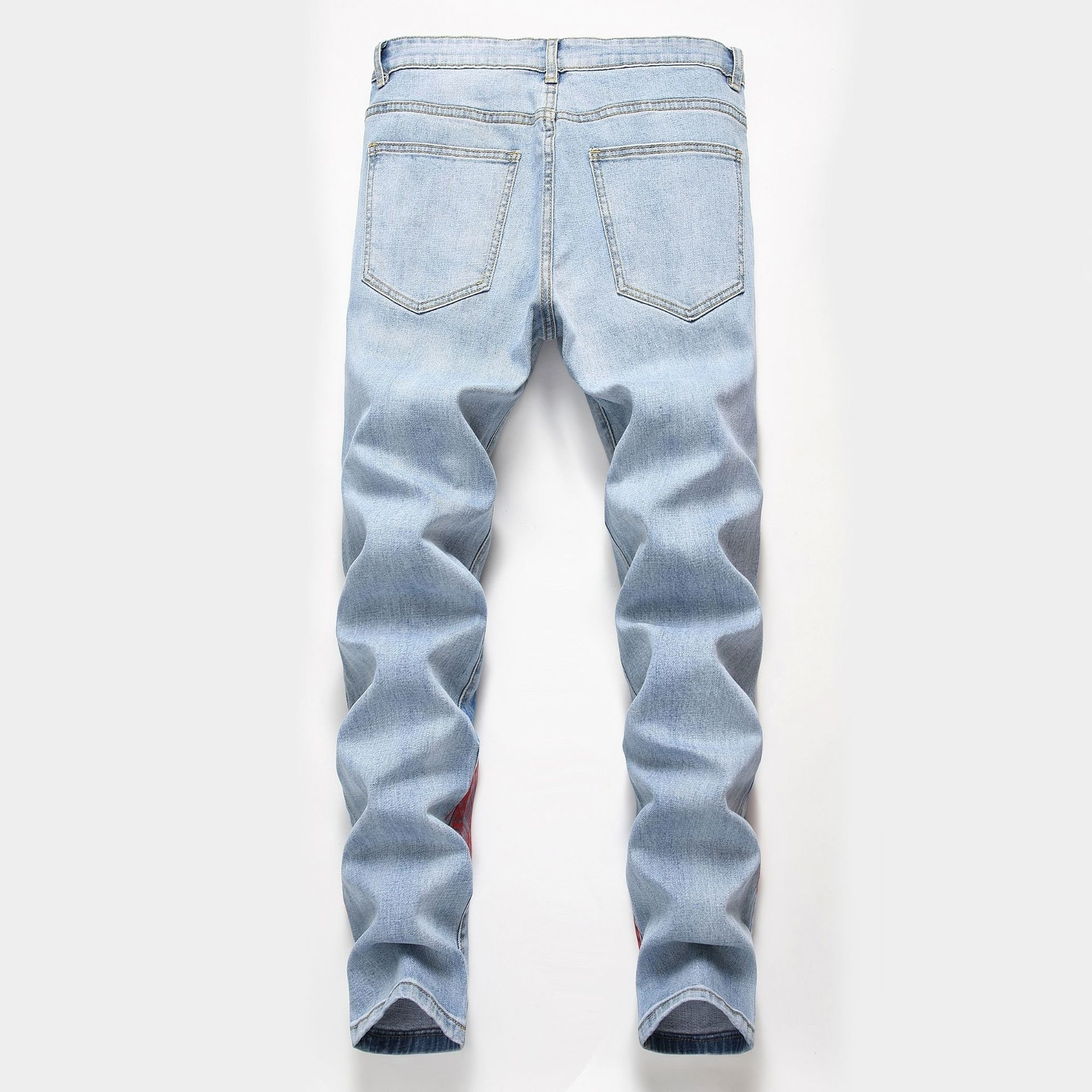 Cost price Cost price New Men jeans 2019 new products Jeans Male Personality Tide Card Elastic Force Hand-painted Pants Man Trousers