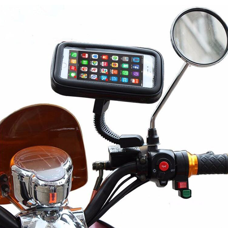 Motorcycle Phone Holder Stand 360 Rotating Mobile Support for Iphone 6s 7 Plus for Samsung S7 S6 Universal Moto Waterproof Bags