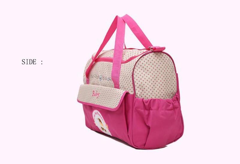 CROAL CHERIE 381830cm5pcs Baby Diaper Bag Sets changing Nappy Bag For Mom Multifunction Stroller Tote Bag Organizer (5)