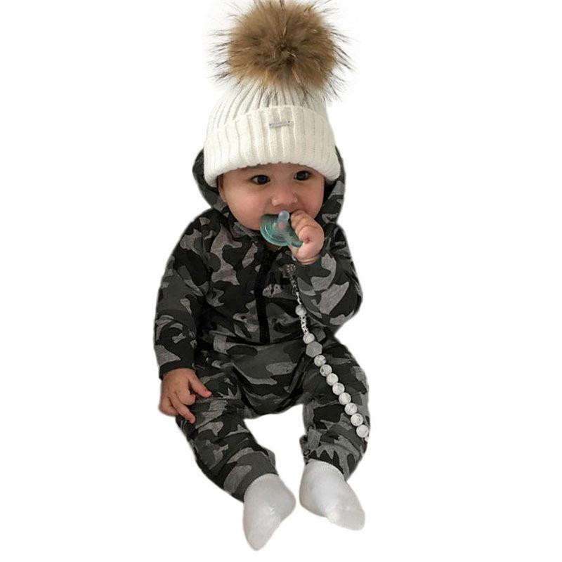 LC/_ nouveau-né bébé imprimé Lettre barboteuse Camouflage long Pantalons chapeau