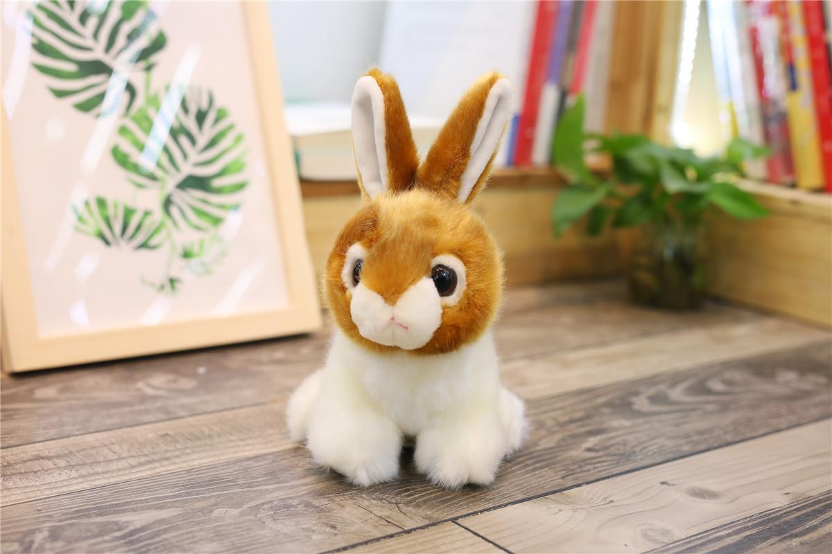 Simulazione animali di peluche giallo chiaro Figura Coniglio Modello regali